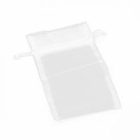 ORGANZA BAG WHITE 12.5CM X 32 CM PKT 50