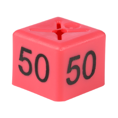 SHOPWORX CUBEX 'Size 50' Size cubes - Pink (Pack 50)