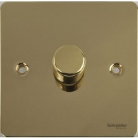 Flat Plate Polished Brass LV DIMMER 1G 2 Way 400W | LV0701.0513