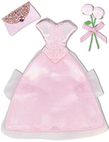 Pink Dress Stitchery Stickers