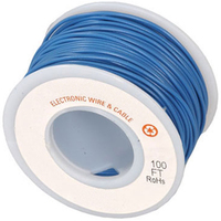 Electronic Wire Tinned Copper 300Meters Spool Blue