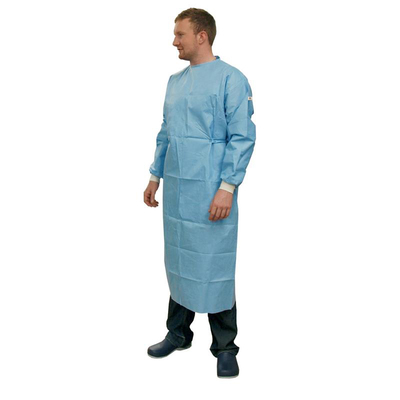Purfect Gown Sterile Disposable 45g Tissue Laminate Reinforced SMS Blue (30)