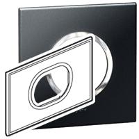 Arteor (British Standard) Plate 3 Module Round Graphite| LV0501.0141