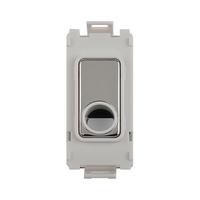 Schneider Ultimate Screwless Grid Mirror Steel Flex Outlet White|LV0701.1105