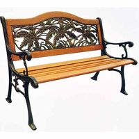 Cast Iron Hardwood Bench
