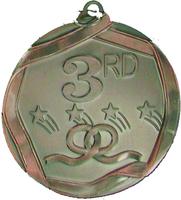 60mm 3rd Place Medallion (Antique Bronze)