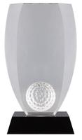 20cm Crystal Golf Ball Award (Plain Box)