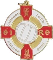 34mm Gaelic Football Medal - Gold / Red