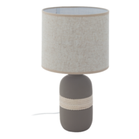 EGLO Sorita 1 Ceramic Grey with A Beige Shade Table Lamp | LV1902.0076