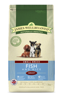 James Wellbeloved Adult Dog Small Breed - Fish & Rice 1.5kg