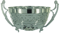 180mm Flat Bowl with Handles (Silver)