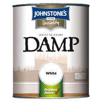 JOHNSTONES PAINT TO COVER DAMP WHITE 750 ML