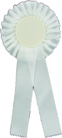 25cm Rosette with 50mm Recess (White)