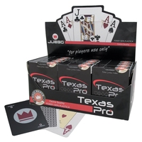 100% Plastic Texas Pro Playing Cards. Casino Quality (CDU of 12)