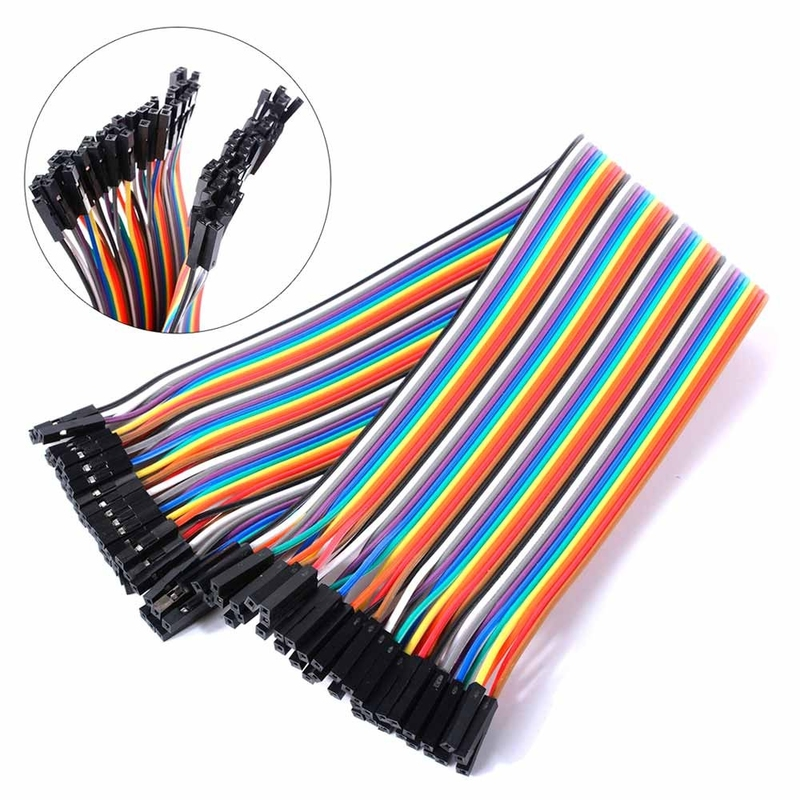 40 Pins Female to Female Breadboard Jumper Wires 20cm