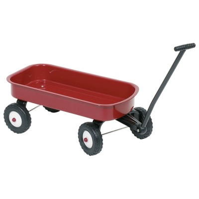 Children's Red Pull-along Cart