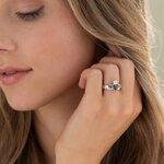 A model wearing Solvar Connemara marble Claddagh ring S2887