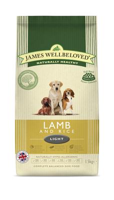 James Wellbeloved Dog Light - Lamb & Rice 1.5kg