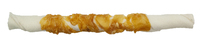 "The Butcher Shop Co. 10"" White Twisted Stick wrapped with Chicken 1pk x 1"