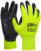 E300 Grip It Nitrile Palm Coat Glove Pkt 12