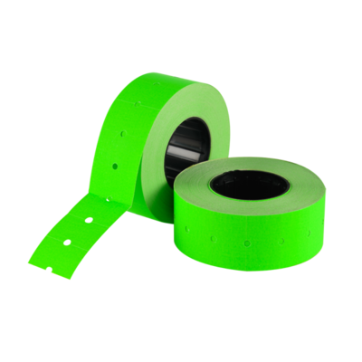 LYNX CT1 21x12mm Labels - Fluorescent Green Permanent (Box 50k)