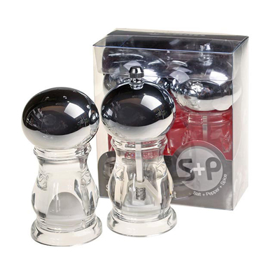 Acrylic Salt & Pepper Set 4''