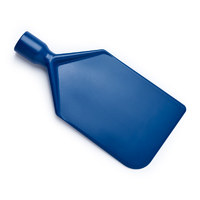 Metal Detectable paddle scraper blade, 112x235mm, blue