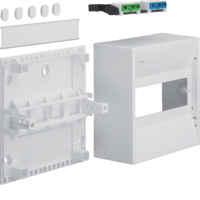Insulated enclosure,IP30,8 modules