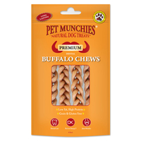 Pet Munchies Dog Buffalo Chews Small 4pk x 8