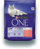 Purina One Adult Cat - Salmon & Whole Grains 800g x 1
