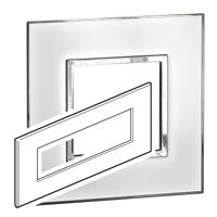 Arteor (British Standard) Plate 8 Module Square Mirror White | LV0501.0343