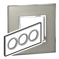 Arteor (British Standard) Plate 6 Module Round Woven Metal | LV0501.2807