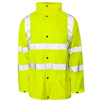 Supertouch Hi-Visibility Storm-Flex PU Jacket, Yellow Unlined