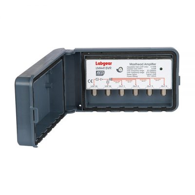 Labgear 2-In 4-Out Variable Gain Masthead UHF Amplifier