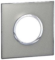 Arteor (British Standard) Plate 2 Module 1 Gang Round Woven Metal | LV0501.2710