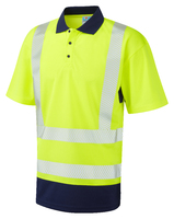 Leo MORTEHOE ISO 20471 Cl 2 Dual Colour Coolviz Plus Polo Shirt