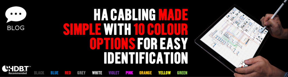Cat 5E, Cat 6 & Cat 6A HDBaseT Cables in a Range of Different Colours