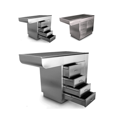 Purfect Stainless Steel Tub Table with Knee Space on Left