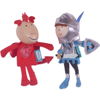 Knight and Dragon finger puppet set