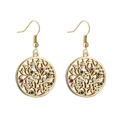 GP CRYSTAL TREE OF LIFE DROP EARRINGS