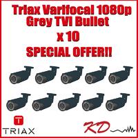 Triax Varifocal 1080p TVI Bullet Grey X 10