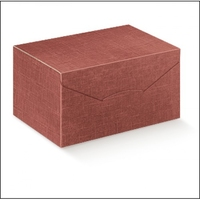 BOX WINE 6 BOTTLE 325X255X180MM BURGUNDY