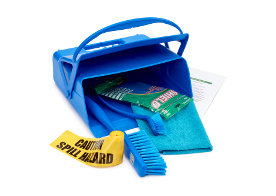 Glass breakage and allergen spill kits