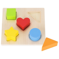 Wooden shape and colour sorting board for toddlers