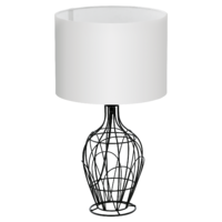 EGLO Fagona Black with White Shade Large Table Lamp | LV1902.0071