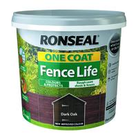 One Coat Fence Life 5L Dark Oak