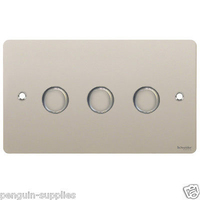 Flat Plate PN DIMMER  3Gang 2way| LV0701.0545