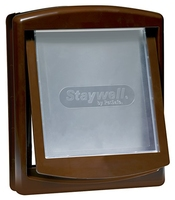 Staywell No.755 Medium Dog Door + Lock Panel - Brown x 1