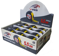 Vires Tape Measure 5.5mtr 12pce display box