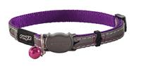 Rogz Nightcat Cat Collar - Budgies Purple/Silver x 1